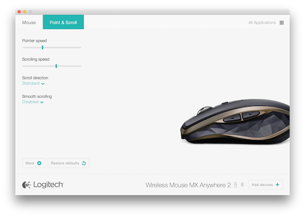 Changing the DPI Setting on the Logitech MX Anywhere 2